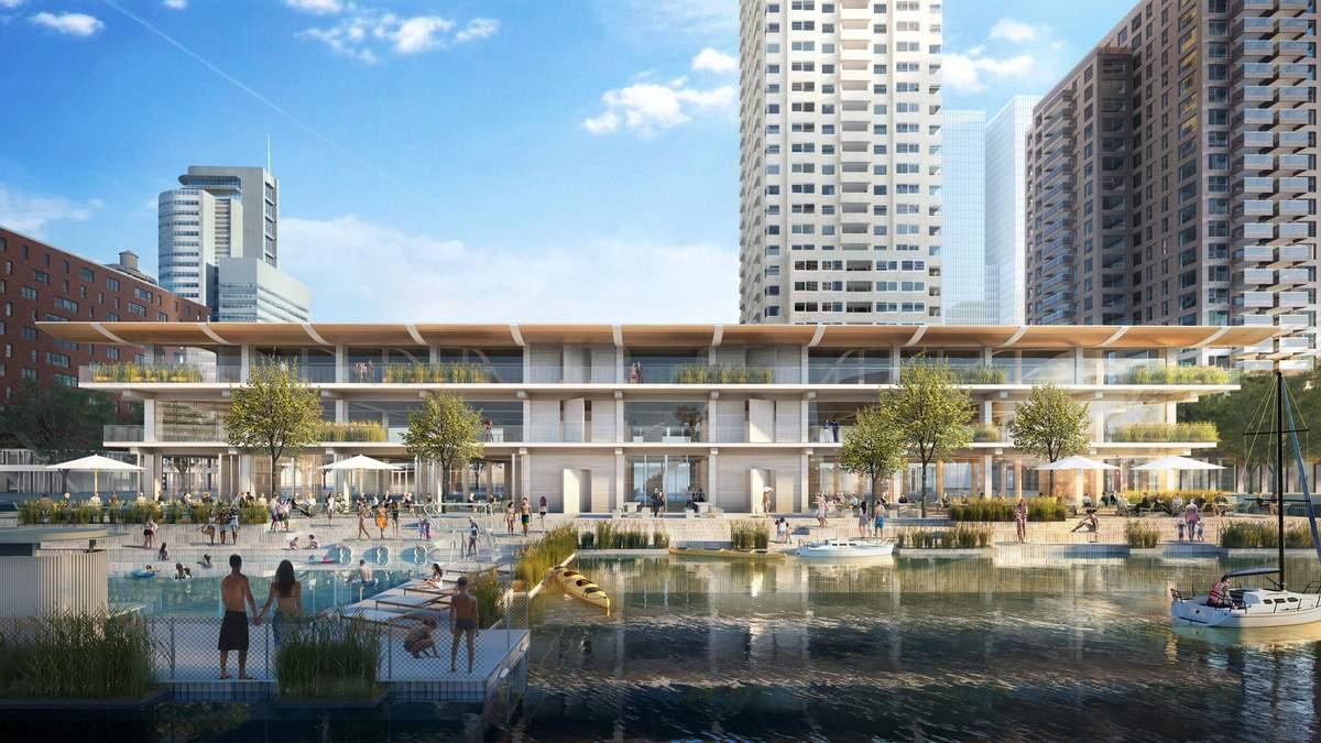 Думая о глобальном потеплении: в Нидерландах строят плавучий офис будущего