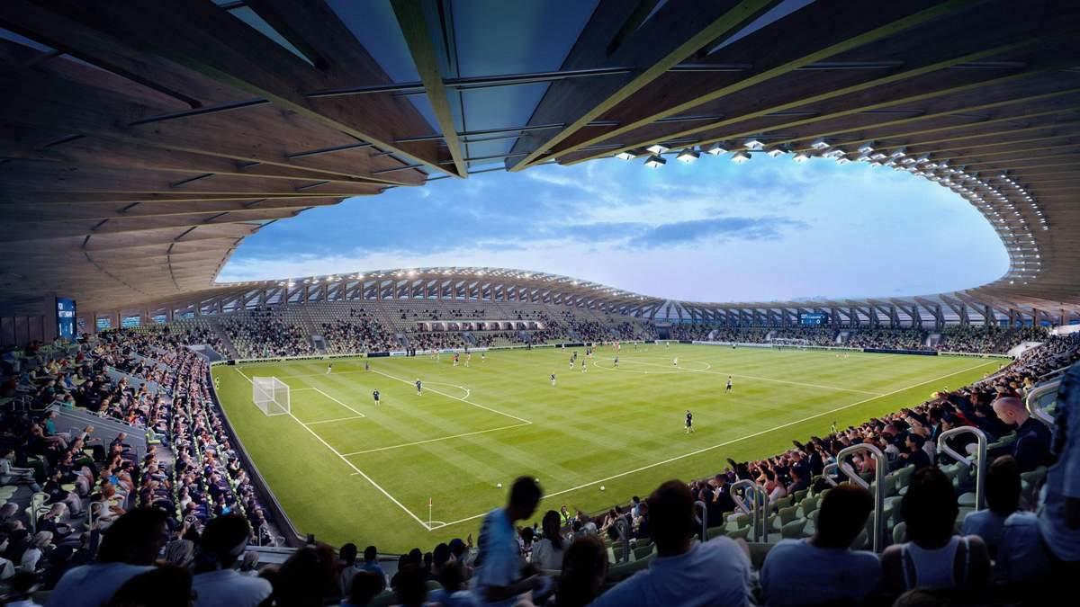 В Британии построят первый в мире деревянный стадион