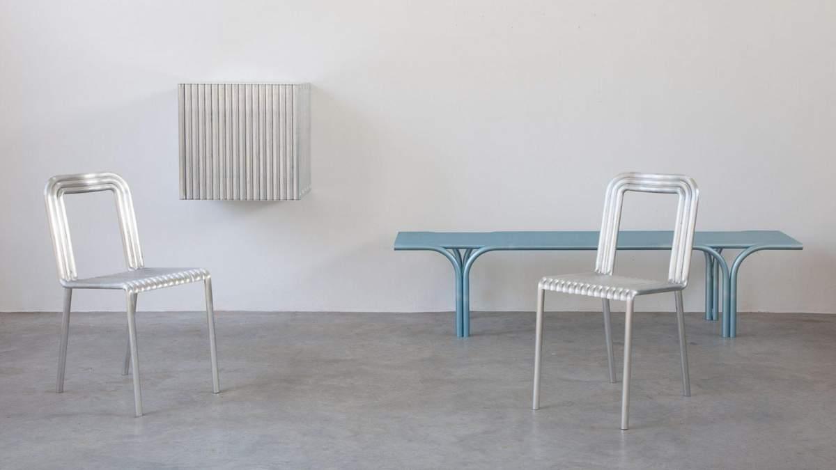 Бельгійські дизайнери створили колекцію меблів для дому з алюмінієвих труб – фото