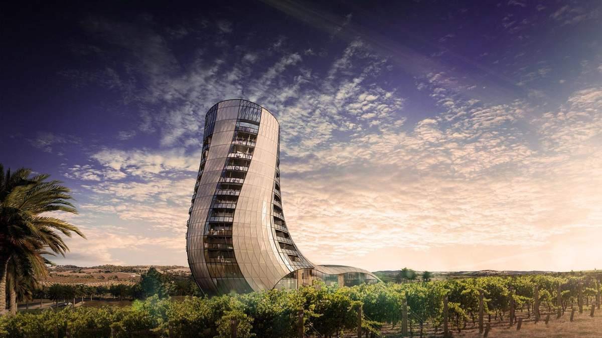 """""""Підмітальна вежа"""": фото нового готелю в Австралії, збудованого в долині виноградників"""