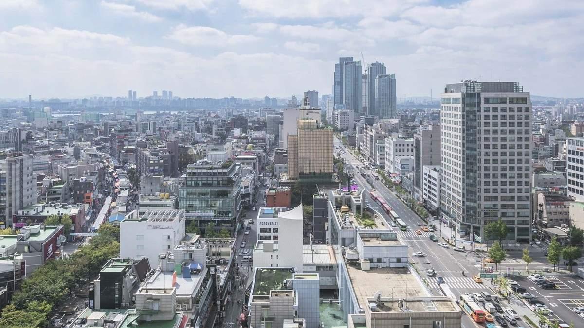 Белый Титаник: фото масштабного здания в центре Сеула, которое напоминает нос корабля