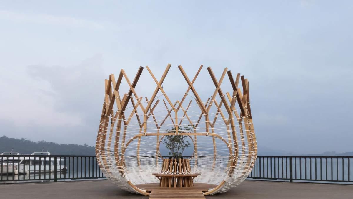 Учась у природы, в Тайване построили домик в виде гнезда – фото