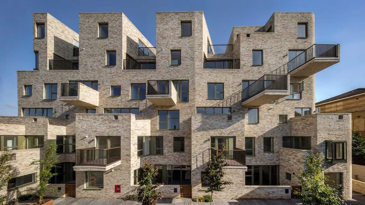 Чудернацький багатоквартирний будинок, що вражає формами – фото та концепція житла у Лондоні