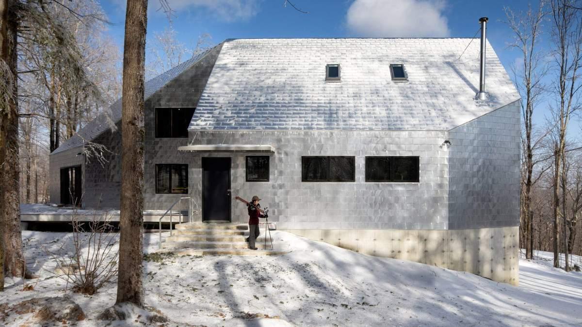 У США побудували екологічний алюмінієвий будинок посеред лісу – фото
