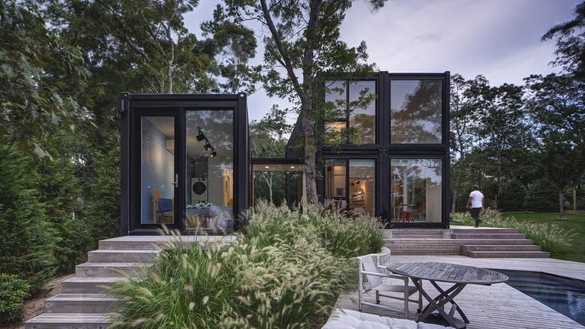 Дом из контейнеров: недалеко от Нью-Йорка семейная пара построила современное бюджетное жилье