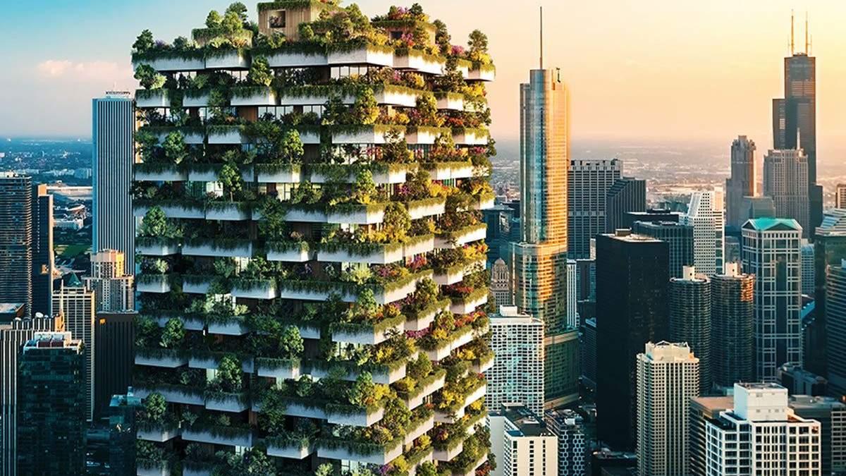 Самая высокая живая стена в США: в центре Далласа высадят 40 тысяч растений на балконах офиса