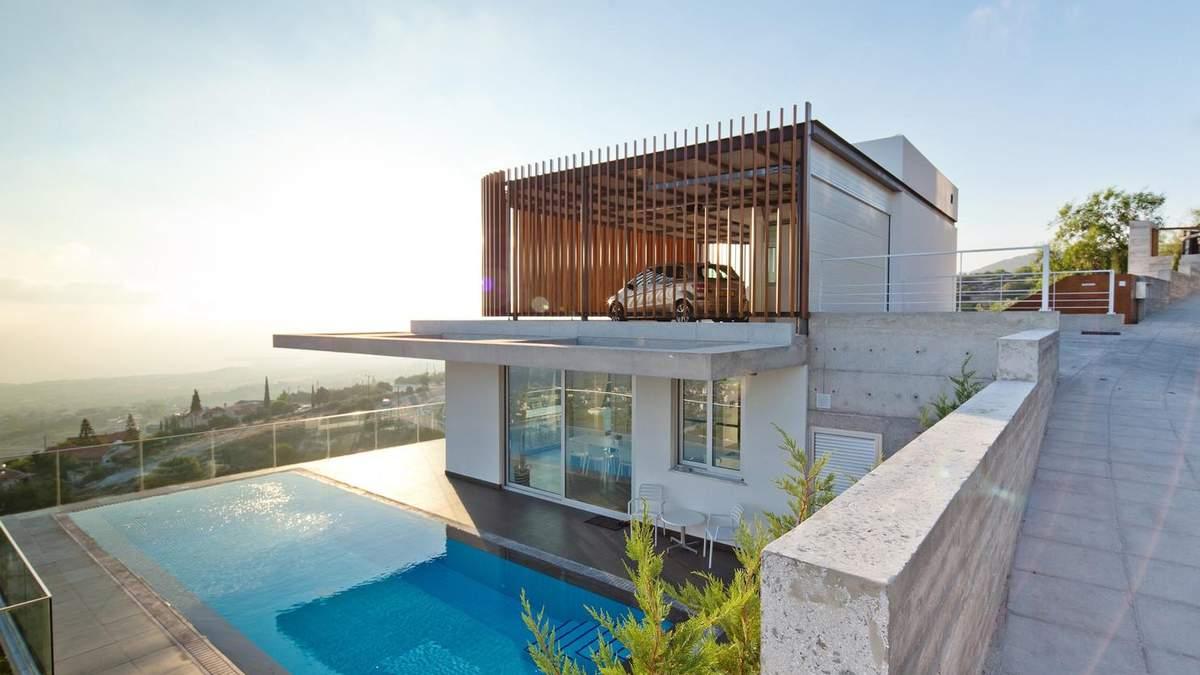 Ізольована бібліотека та будинок-решітка: фото незвичних приватних будинків Кіпру
