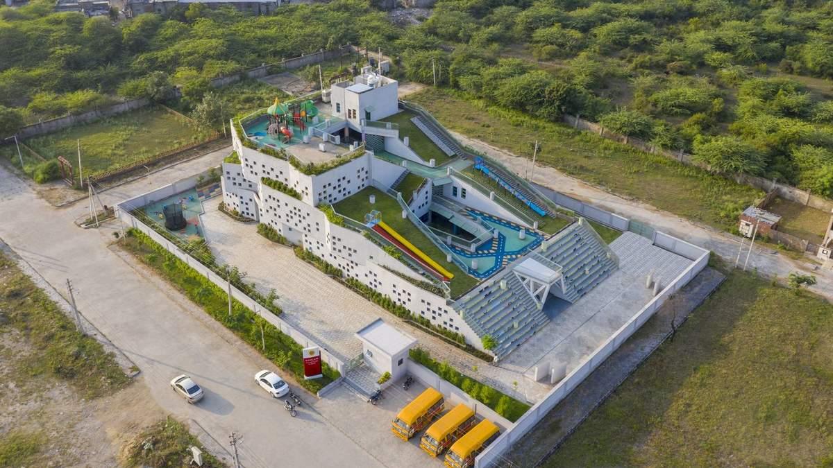 Мов у казці: в Індії побудували багатофункціональний та екологічний дитячий садок – фото