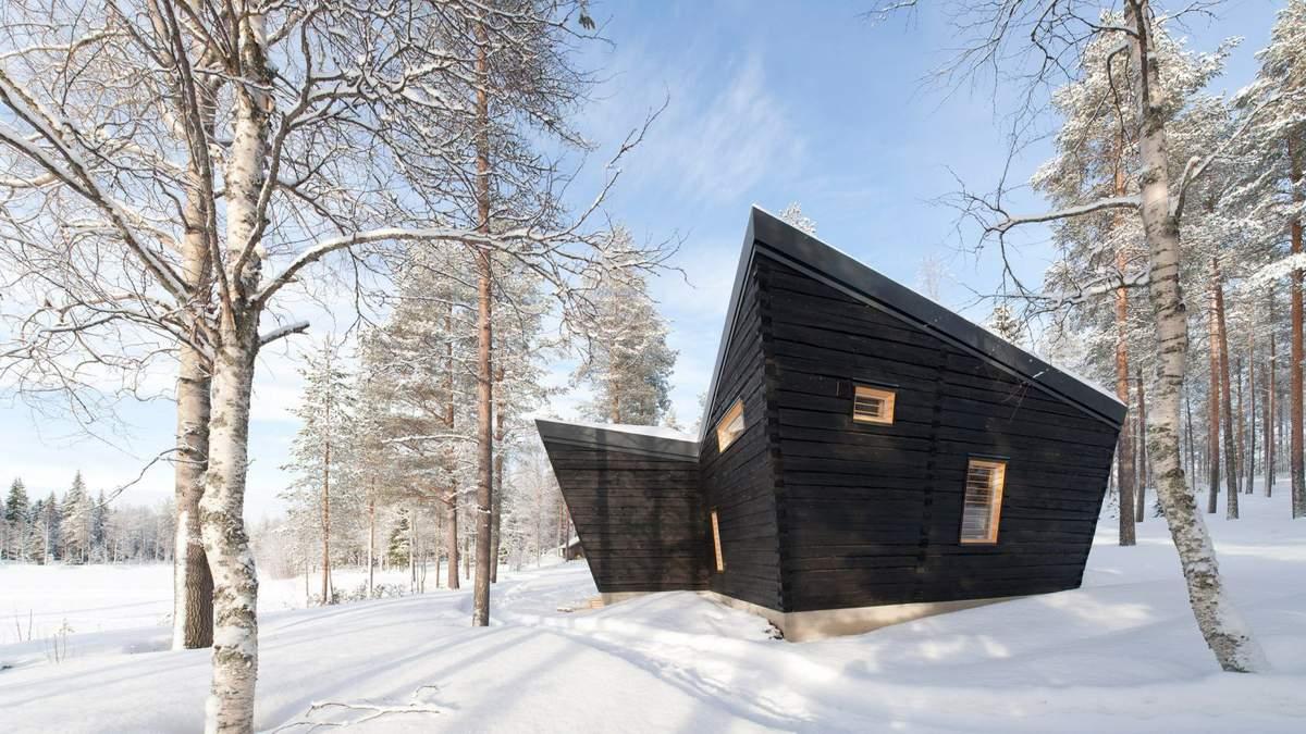 Дыхание Арктики: в Финляндии построили деревянную сауну посреди леса – фото