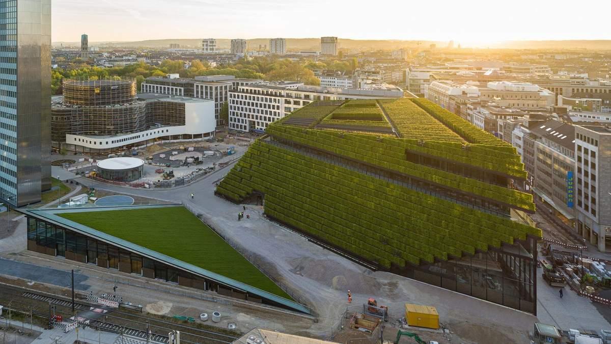 Стару офісну будівлю в Німеччині повністю покриють зеленими кущами – фото