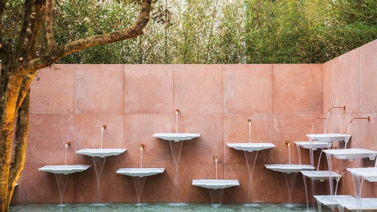 22 умывальника: экологическое общественное пространство, призывающее экономить пресную воду-фото