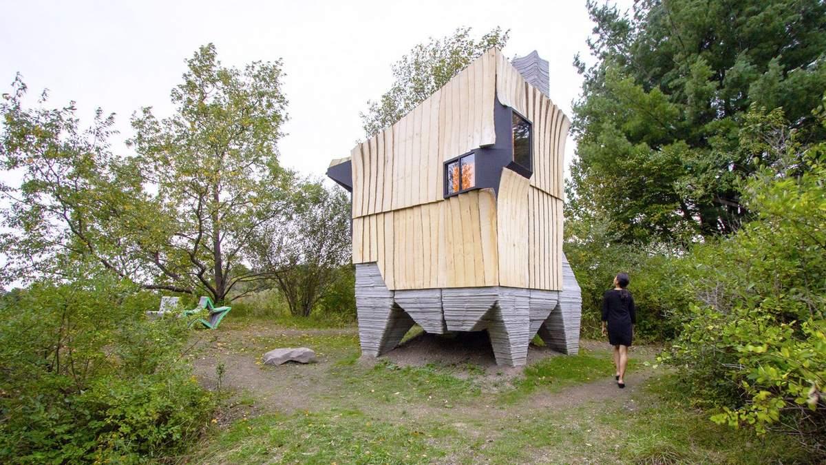 Спасенное дерево и экономия ресурса: как дизайнеры напечатали бетонный фундамент для домика