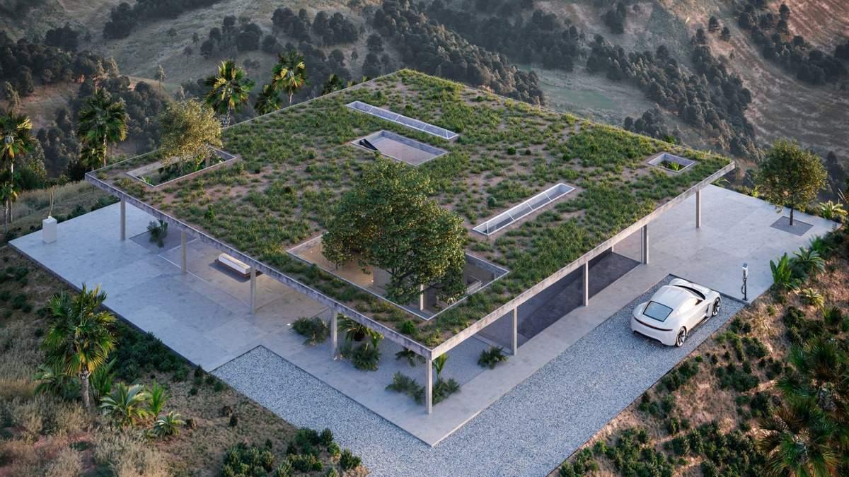 Растения на крыше: пример модернистской архитектуры на Голливудских холмах – фото
