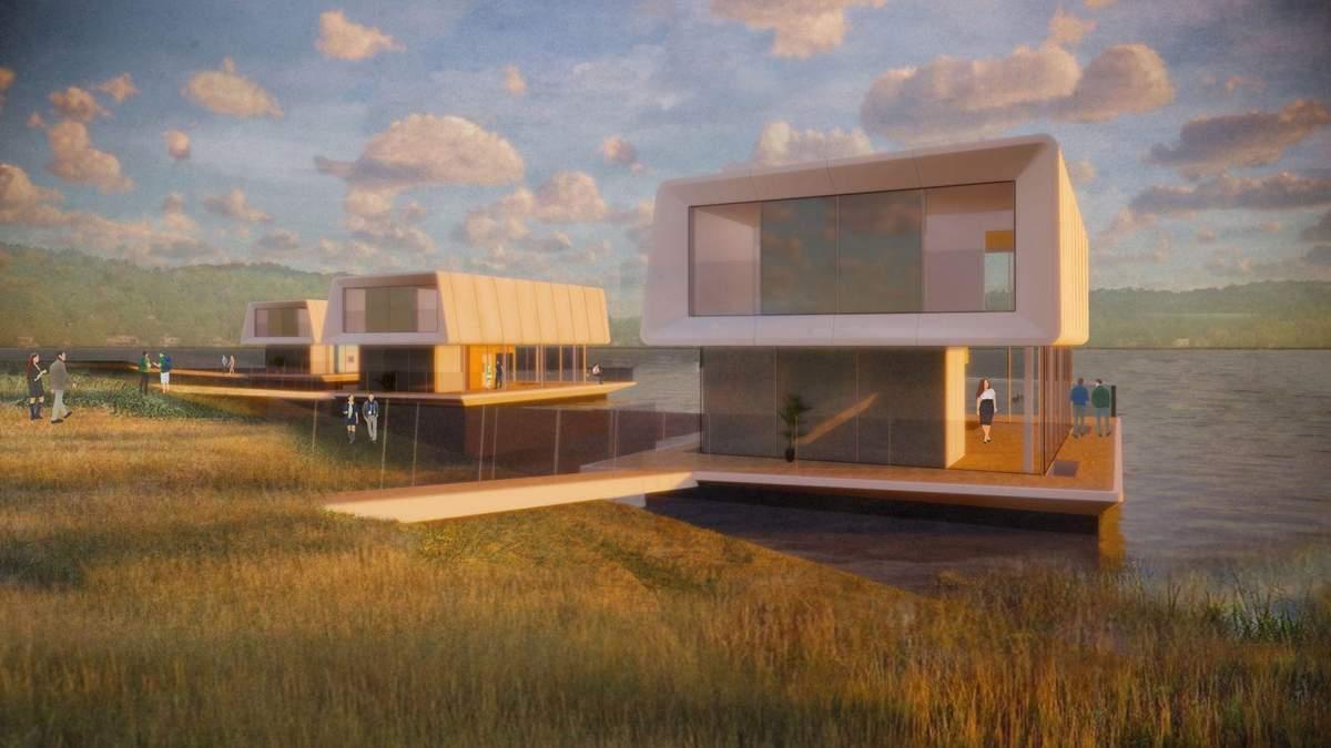Из-за глобального потепления: в Великобритании представили проект плавучих домов – фото