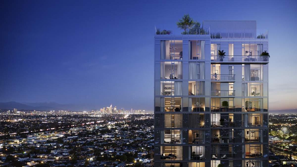 Фантастический 31-этажный жилой дом в окрестностях Лос-Анджелеса – фото