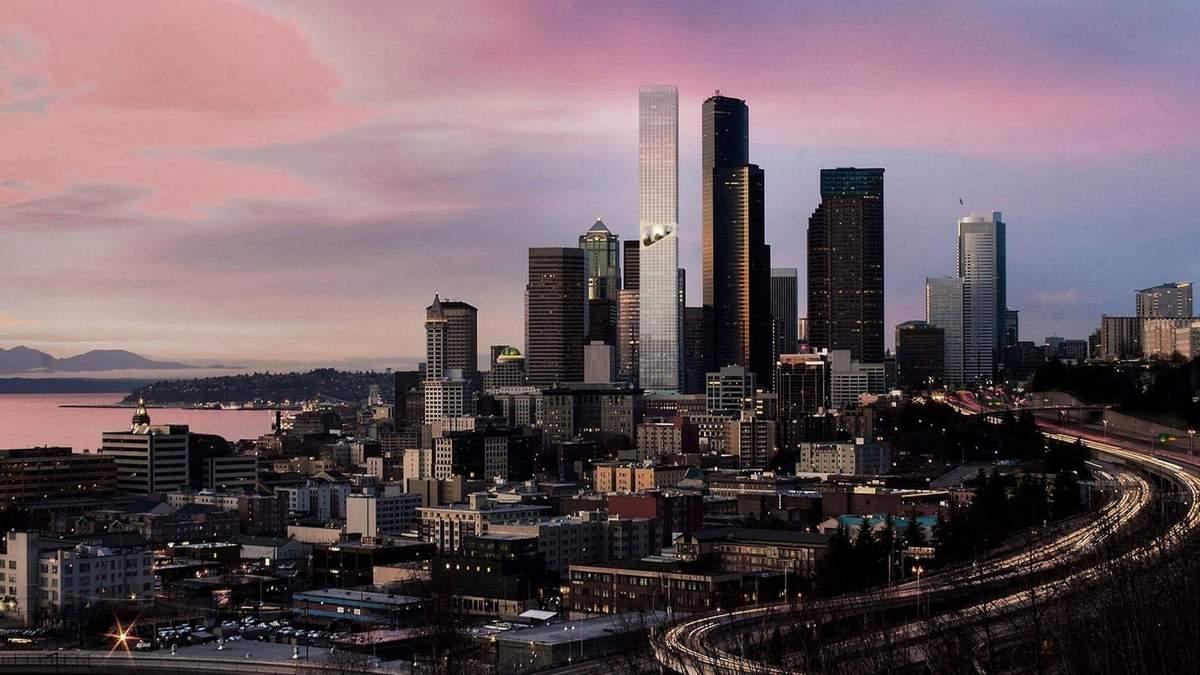 Екологія та монументалізм: В Сієтлі побудують хмарочос, який посередині розділяє парк – фото