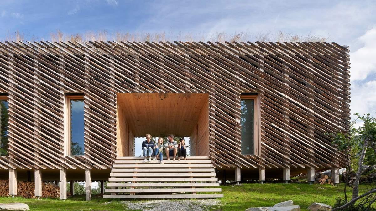 Навіть ручка від холодильника: фото повністю дерев'яного будинку з Норвегії