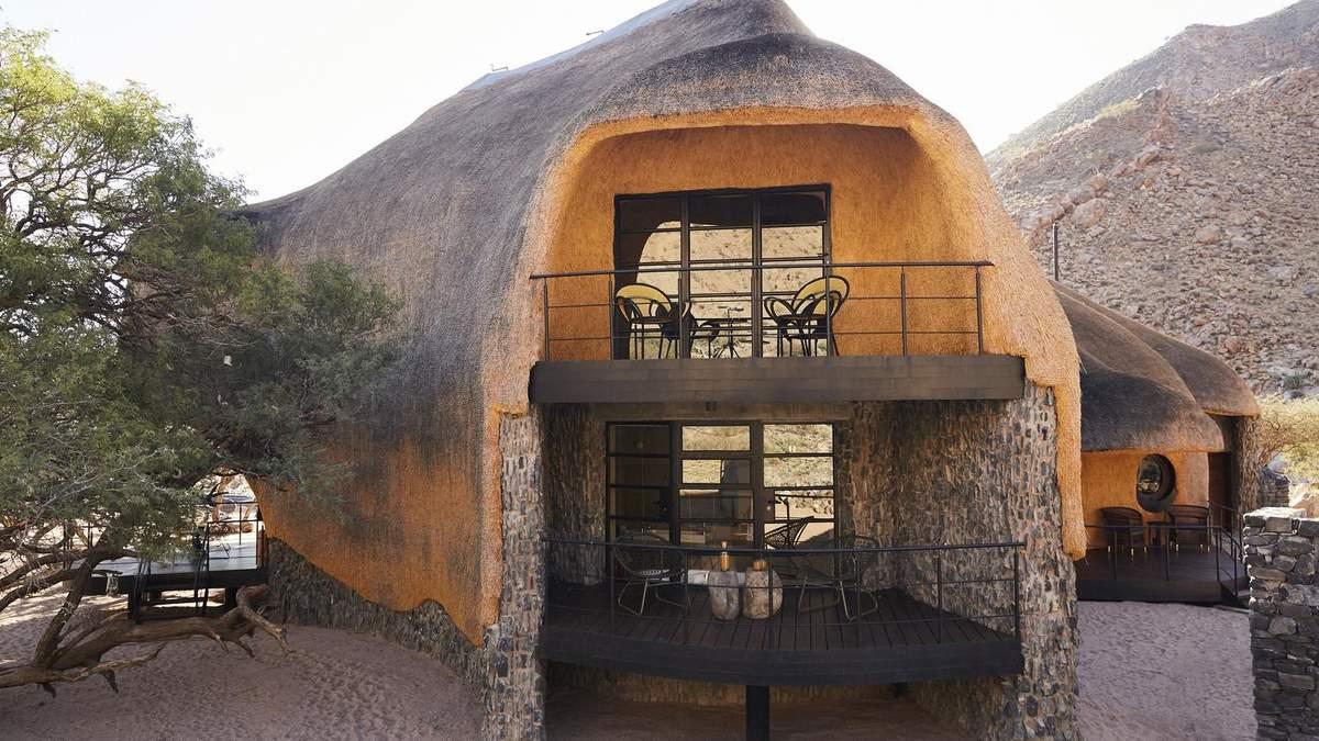 Дом из соломы: в Намибии появилось современное жилье, построенное по принципу гнезда – фото