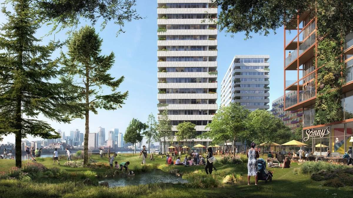 1500 квартир та величезний парк: в Лондоні побудують сучасний квартал з житлом та офісами – фото