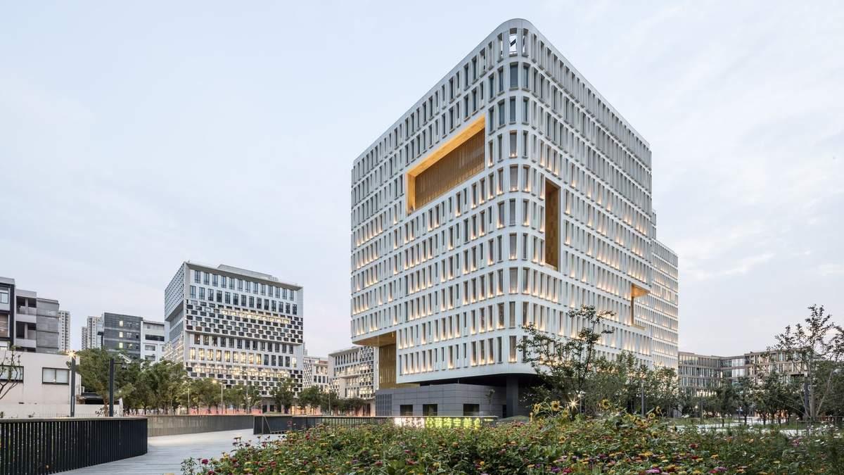 На роботі як вдома: в Шанхаї побудували офісний кампус, який нагадує житловий комплекс – фото