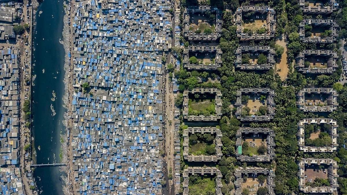 Социальное неравенство с воздуха: фото разницы между кварталами богачей и бедняков со всего мира