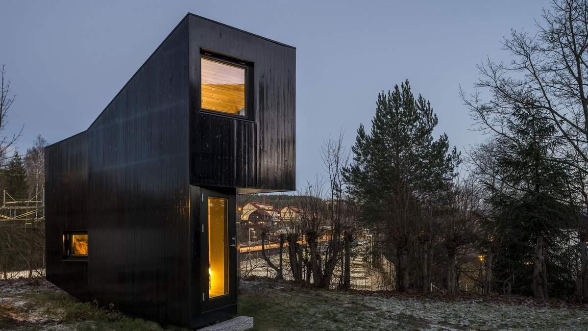 Плоский будинок: додаток до помешкання в стилі хюґе з Норвегії – фото