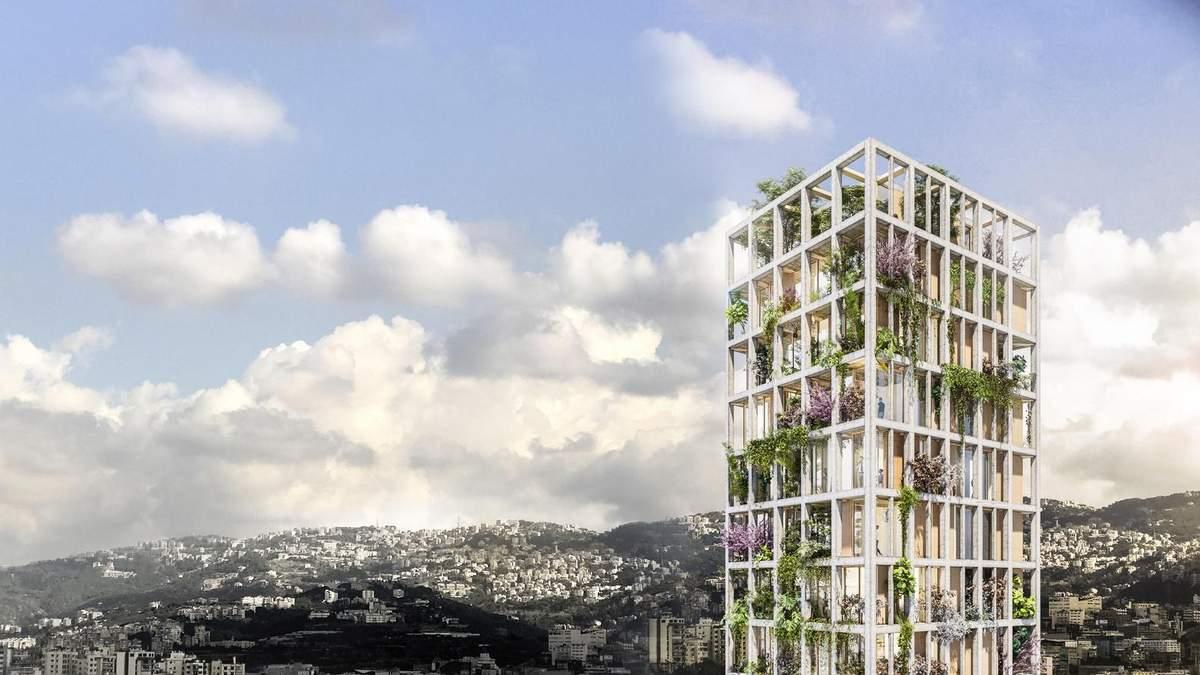 Вертикальный экопоселок: невероятные фото зеленого небоскреба из Ливана