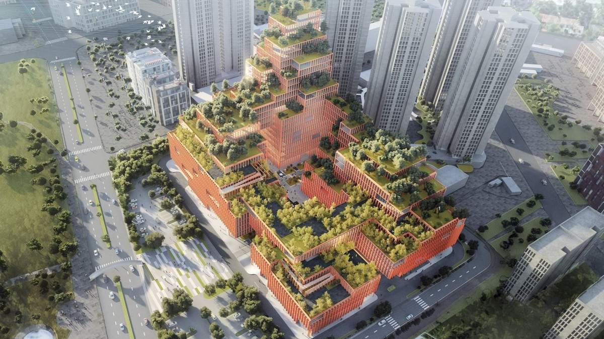 Больница-парк: в Китае построят инновационный реабилитационный центр – невероятные фото