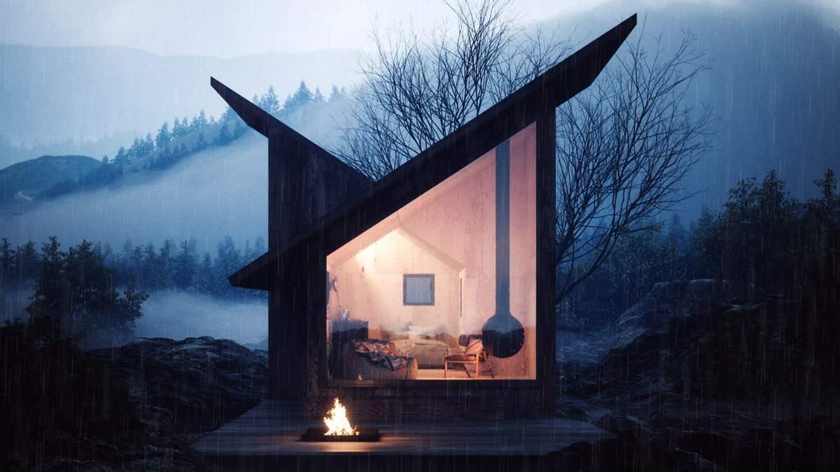 Втеча в гори: в Італії розробили мініатюрний будиночок з фанери для гірської місцевості – фото
