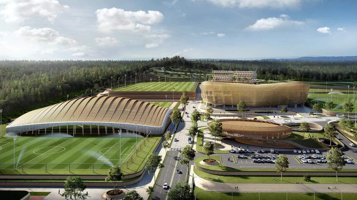 Пропаганда здорового способу життя: в Кореї побудують величезний футбольний комплекс – відео