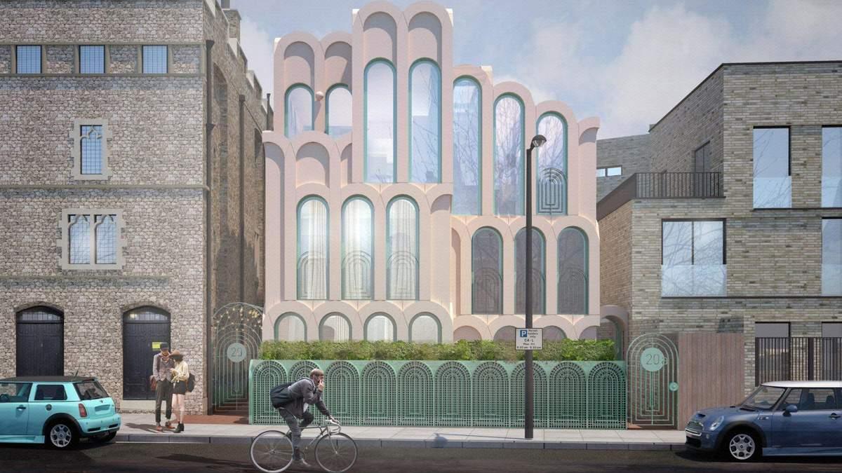 В Лондоні побудують будинок, який повністю складений з рожевих арок – фото