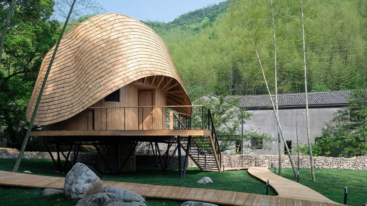 В Китае построили дом с кривой круглой крышей: особенности помещений и фото