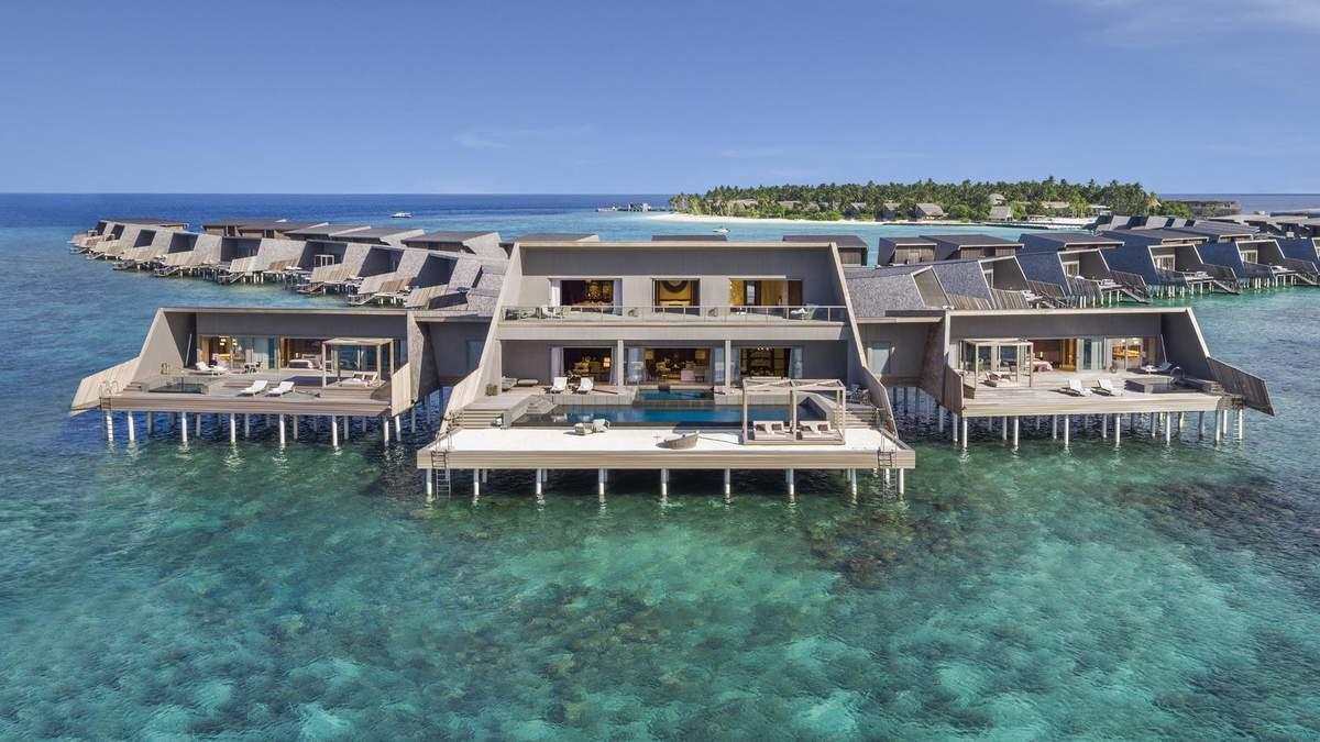 Рай на земле: на Мальдивах открыли огромный отель, который частично построен на воде