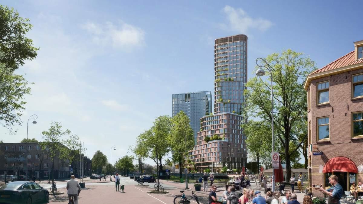 Квіти в цеглі: в Амстердамі зведуть стильний та екологічний житловий хмарочос – фото