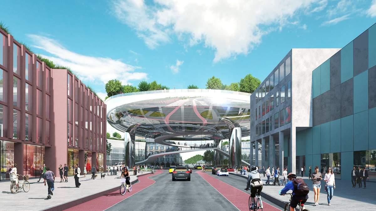 Блестящая тарелка: в Карлсруэ появится огромная футуристическая инсталляция – невероятные фото