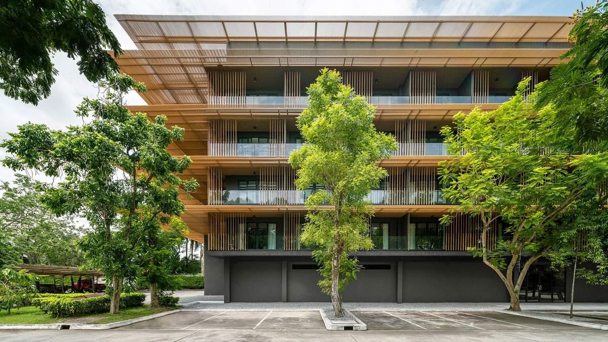 Здание с дождевиками: в Таиланде превратили бетонный дом в привлекательную конструкцию – фото