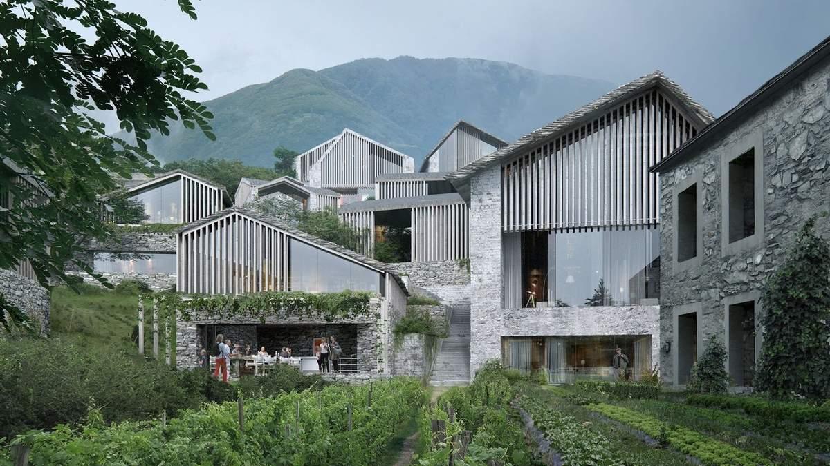 100 будинків на висоті 1200 метрів: в Швейцарії спроєктували шикарний курорт – фото