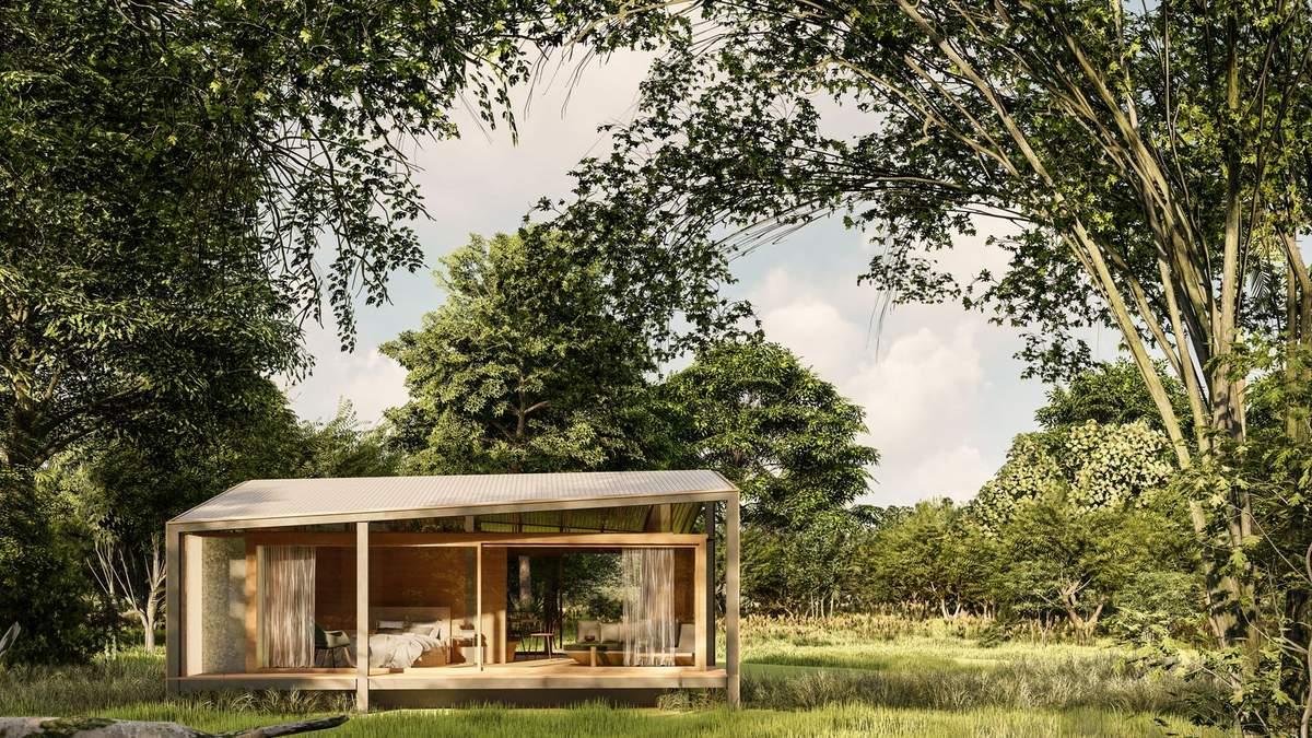 Дом из картонных коробок: фото экологического жилья на Бали