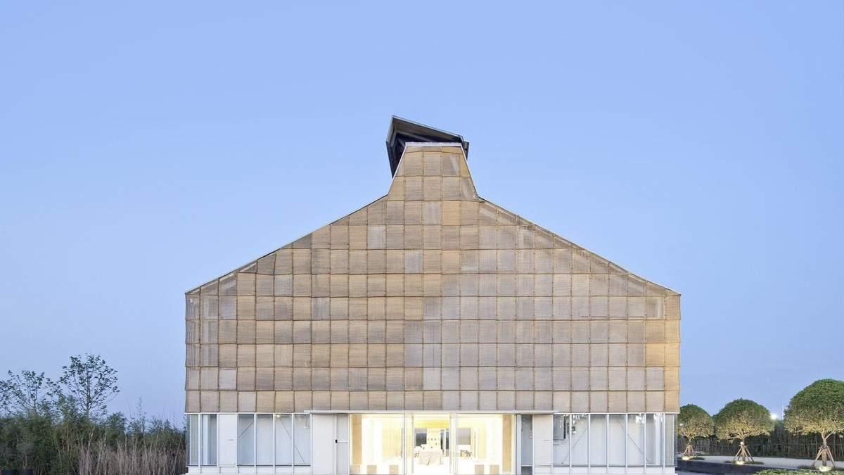 Плетеный фасад: фото экологического офиса, который внешне похож на корзину – фото