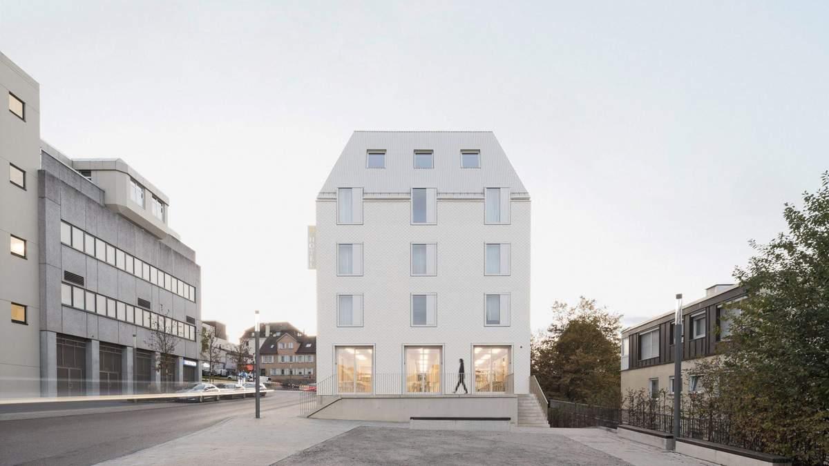 Экологический и белый: в Германии построили инновационный отель – невероятные фото