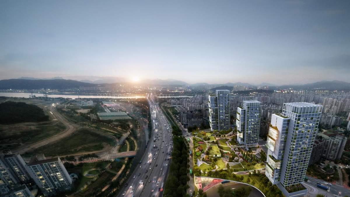 Большая стройка: в Сеуле выделили три проекта современных самодостаточных многоэтажек – фото