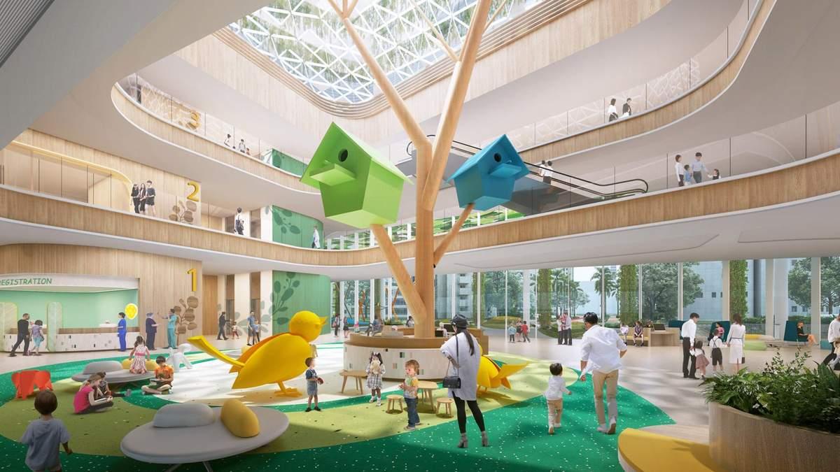 Безболісне лікування – у Китаї презентували простір на даху дитячої лікарні: фото