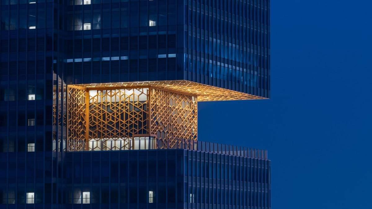 Золоті тераси: в Китаї побудували розкішний хмарочос для офісу – фото