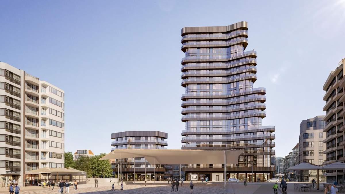 Одна з найвищих житлових будівель Балтії: в Бельгії з'явиться новий хмарочос – неймовірні фото