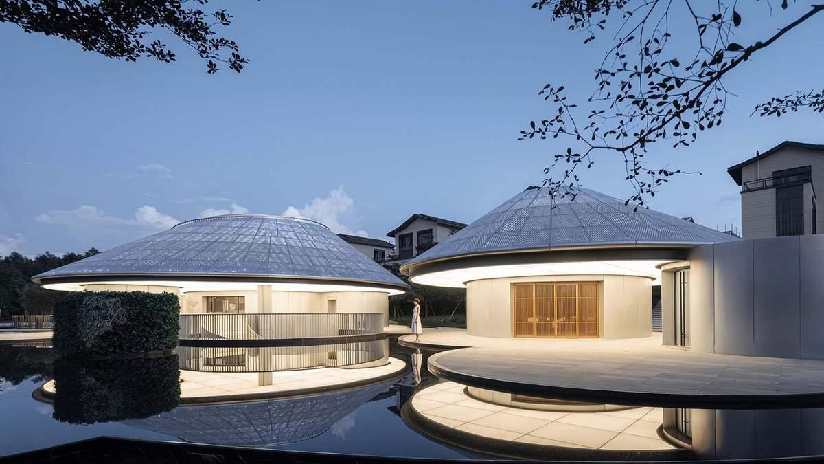 Дерево в потолке: в Китае построили круглый музей с уважением к природе – фото