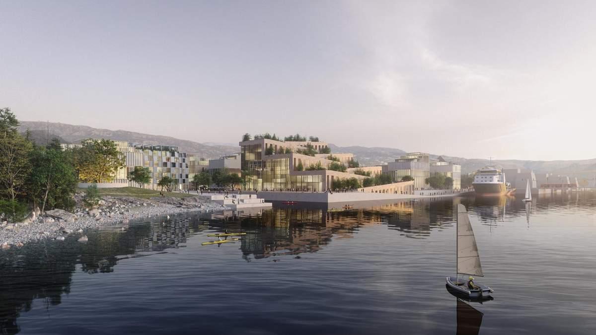 Норвежский город Берген планируют серьезно перепланировать: фото проекта