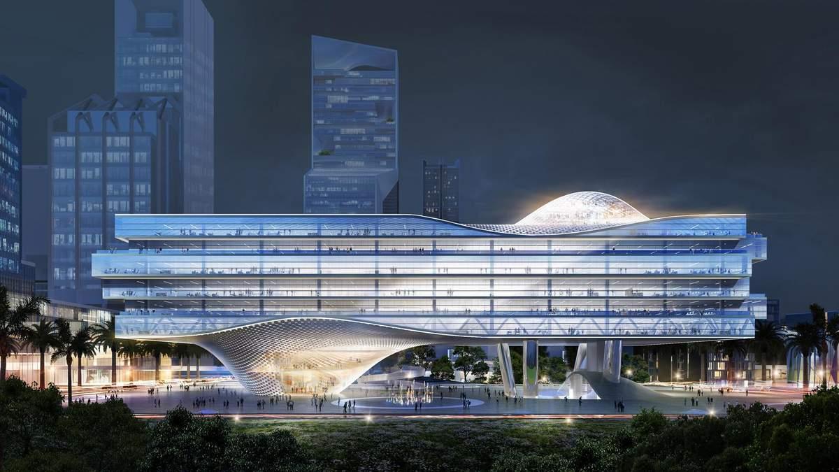 """Наслідки діджиталізації: в Китаї зведуть високотехнологічну """"безпечну"""" офісну будівлю – фото"""