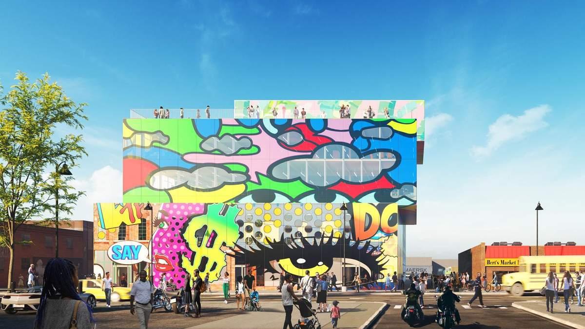 В стиле Берлина: проект и фото нестандартного офисного здания в Детройте