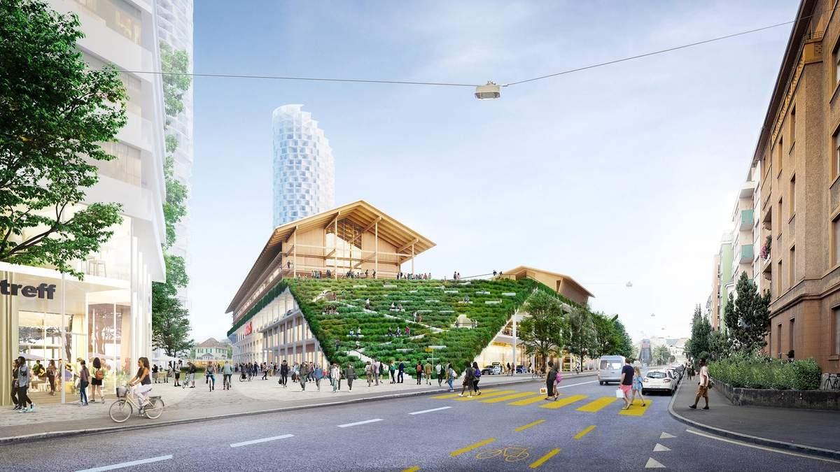Школа на даху торгового центру: в Швейцарії побудують незвичний житловий комплекс – фото