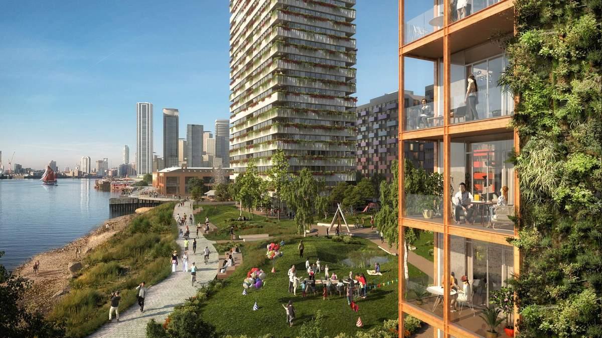 Бізнес, житло та екологічний відпочинок – план реконструкції набережної у Лондоні: фото